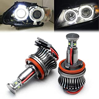 GFJMC H8 20W Xenon White CREE 20W High Power H8 LED Angel Eyes for BMW E60 E61 E90 E92 E70 E71 E82 E89 1 3 5 Series X5 X6 Z4
