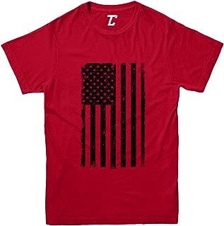 Distressed Black American Flag - USA Youth T-Shirt