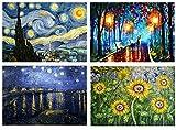 Set 4 Tovagliette plastificate Vincent Van Gogh