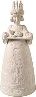 ART & ARTIFACT Lighted Porcelain Santa Lucia Statue - Cordless Embossed Christmas Figurine