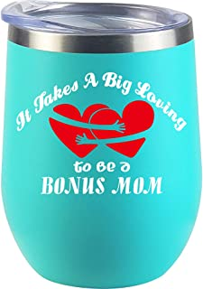 Stepmom Gifts | Bonus MOM | From Daughter | Son | Christmas Gifts | Stepmother | Mug Wine Glass
