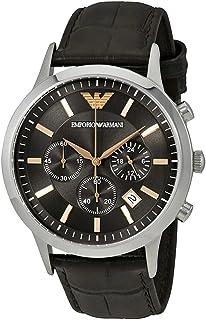 Emporio Armani Watch For Men - Analog, Leather Strap - Ar2513