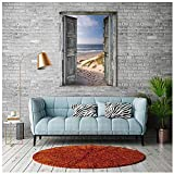 JYCXLYB 5D Beach Door Landscape Diamond Painting Kit de punto de cruz Family Wall Decoration Full Diamond Mosaic Art Set L05501