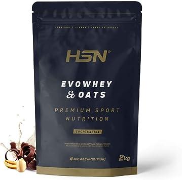 Evowhey & Oats de HSN | Proteína Whey Harina de Avena | Ideal para Desayunos o Meriendas | Bajo en Azúcar, Apto Vegetarianos, Sin Soja, Sabor ...