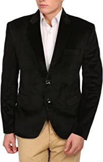 Wintage Men's Velvet Two Buttoned Notch Lapel Party Coat Blazer-7 Colors