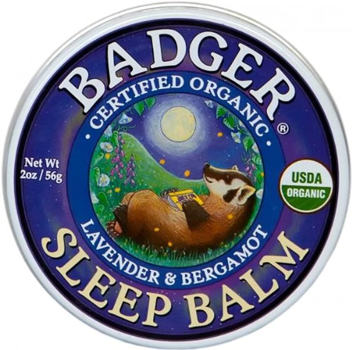 Badger バジャー オーガニック スリープバーム おやすみ前アロマクリーム【大サイズ】 56g【海外直送品】【並行輸入品】