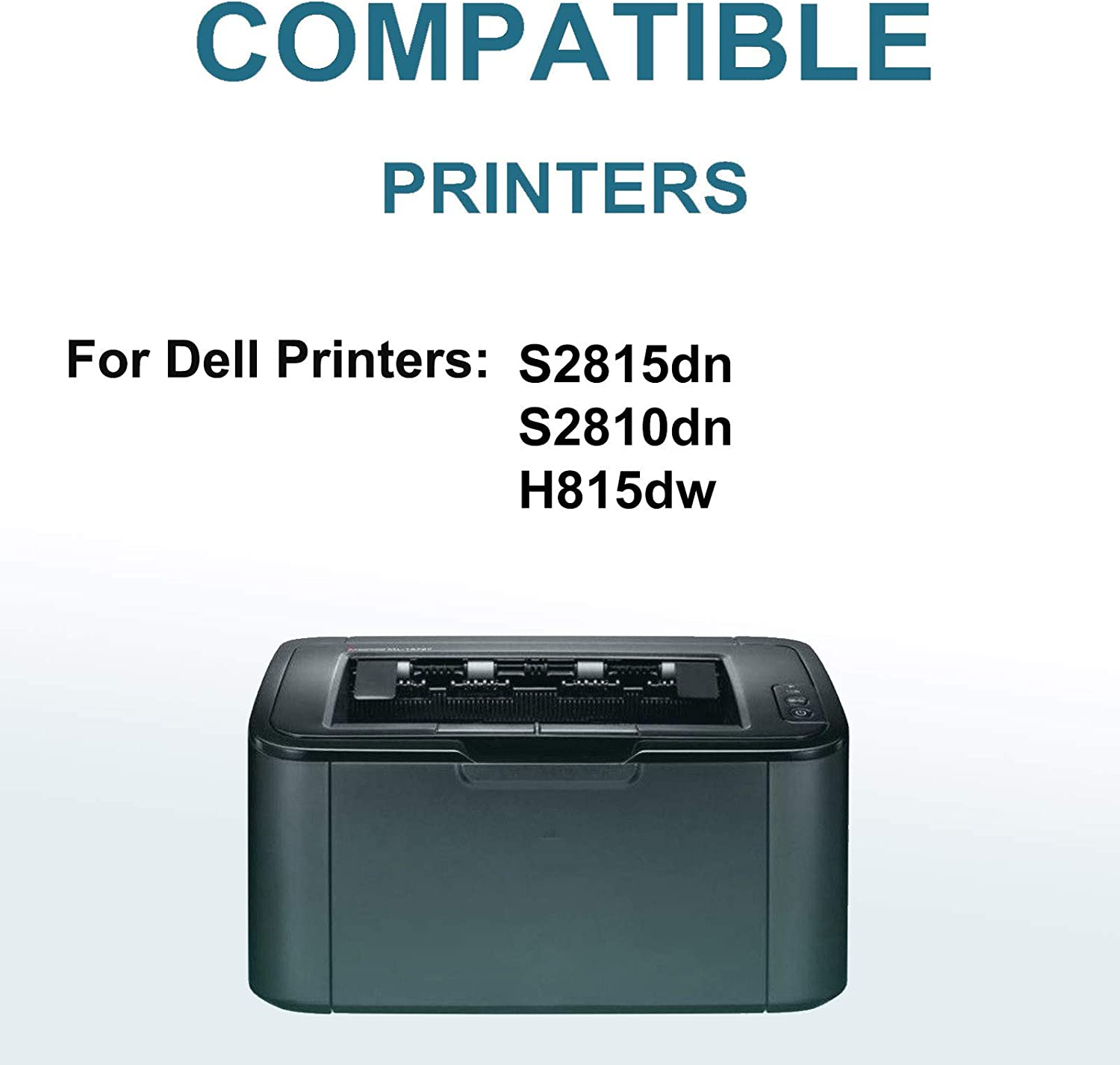 8-Pack Compatible High Capacity H815dw Printer Toner Cartridge Replacement for Dell 47GMH Printer Cartridge (Black)