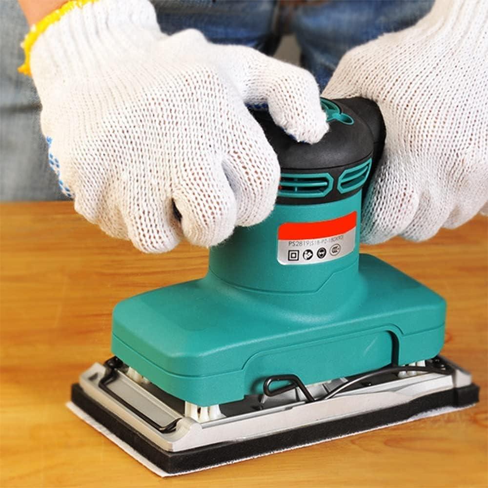 wsbdking El lijador Plano se Utiliza para el Detalle del Mouse de Madera lijadora lijadora Orbital aleatoria 125W 13500 RPM con Puerto de extracción de Polvo, diseño ergonómico Compacto para la Mano