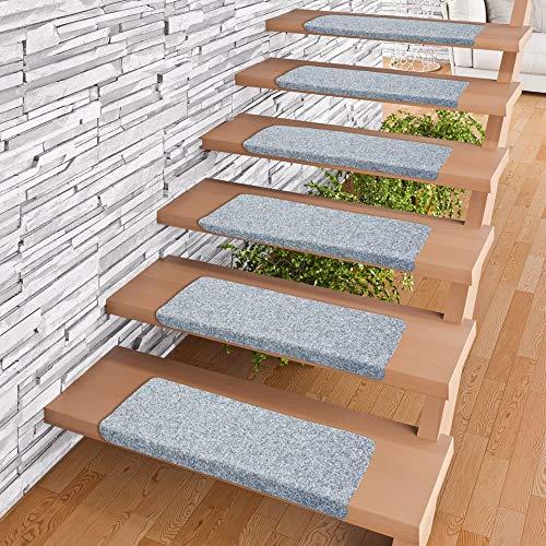 Pergamon Trend Nadelfilz Stufenmatte Bent Grau (eckig) einzeln oder im 15er Set