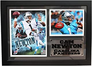 Encore Select 126-50 NFL Carolina Panthers Framed Cam Newton Print, 12-Inch by 18-Inch