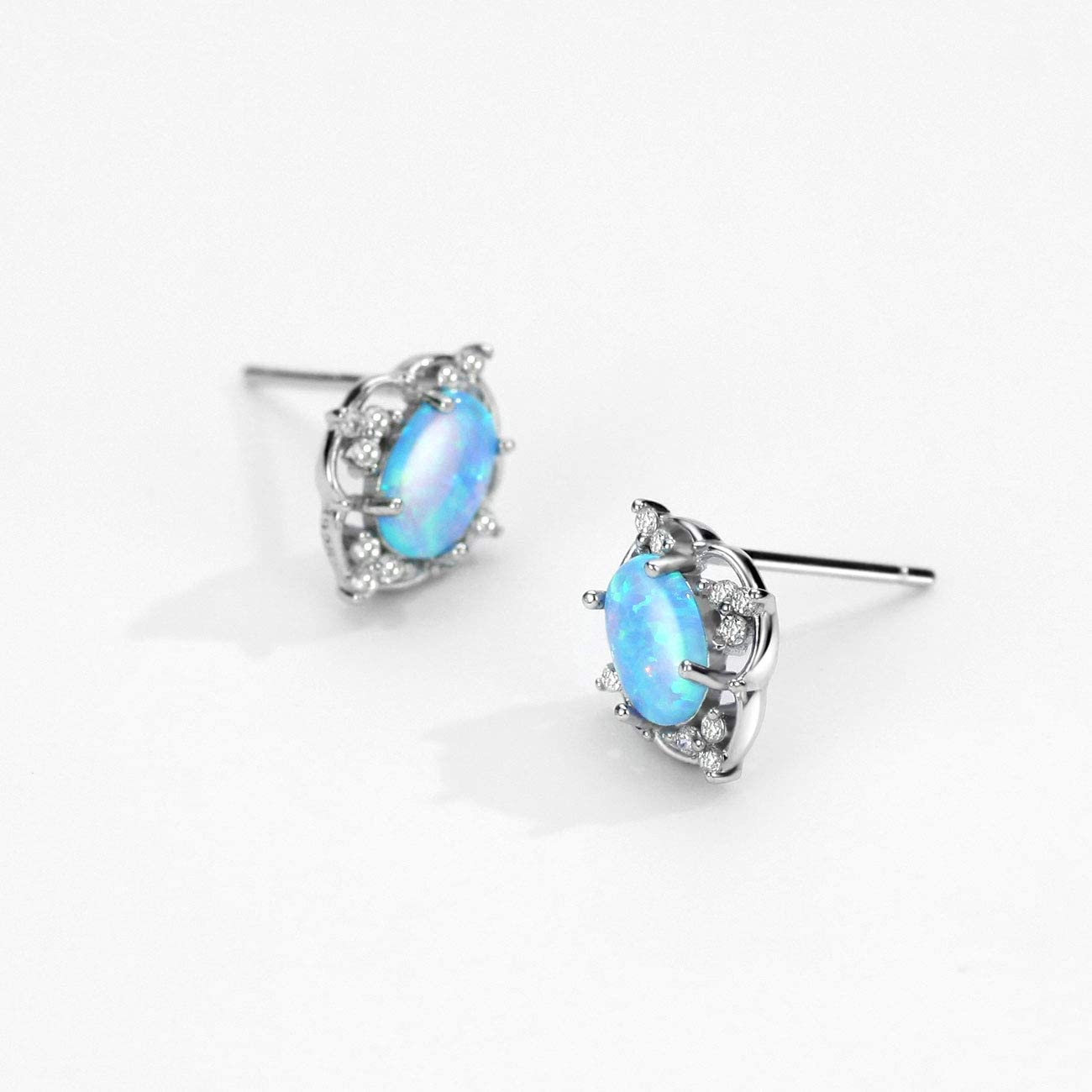 Mints Opal Jewelry Set Filigree Sterling Silver October Birthstone Gemstone Fine Jewelry for Women