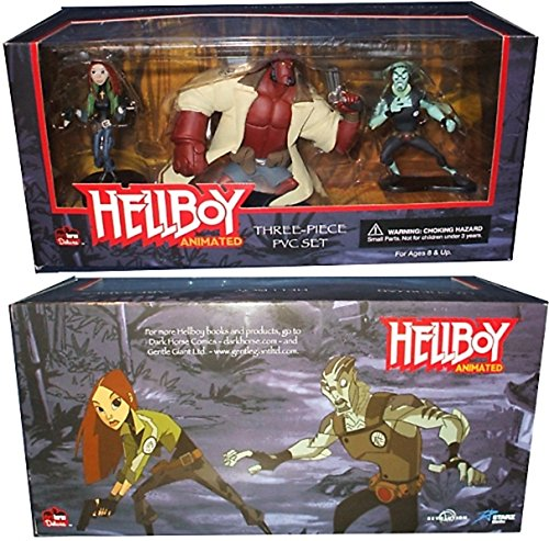 HELLBOY animated 3 figuras no-articuladas 7,5cm - 13cm
