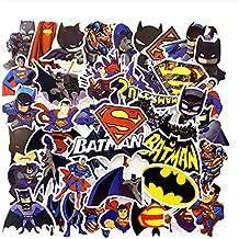 Lot de 45 Autocollants Super héros Superman Batman Graffiti pour téléphone de Bagage Skateboard loptop vélo Mural Guitare ...