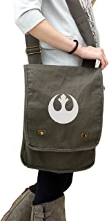Rebel Alliance 14 oz. Authentic Pigment-Dyed Canvas Field Bag Tote Green
