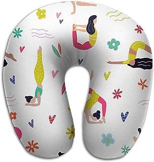 Almohada en Forma de U de Patrones sin Fisuras Activos jóvenes Asanas de Yoga Elementos de Estilo de Vida Saludable Patrones sin Fisuras Wirh