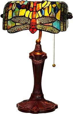 CCSUN Mini Cabecera Lámparas de mesa, Rojo Libélula Estilo ...