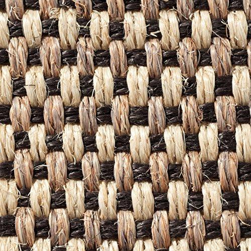 Teppichboden Auslegware | Sisal Naturfaser Schlinge | 400 cm Breite | natur schwarz | Meterware, verschiedene Größen | Größe: 3,5 x 4m
