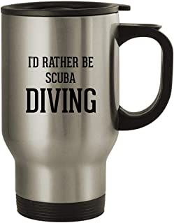 I'd Rather Be SCUBA DIVING - Stainless Steel 14oz Travel Mug, Silver