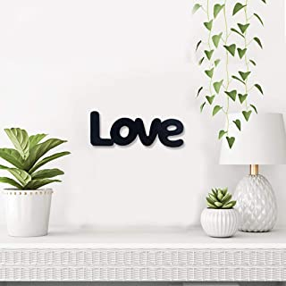 Sehaz Artworks Small Love Plaque Sign - Black Wooden Plaque Wall Hangings Home Room & Wall Decor Wall Art
