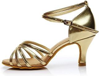 5e4d06750742a0 Scarpe Donna Ballo Latino-Donna Scarpe da Ballo Sandali di Scarpe Zeppa  Tacco Medio Standard