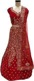 SHRI BALAJI 8962 Red Indian Hit Latest Velvet Lehenga Chli Heavy Embroidery Work Bridal wedding cocktail wear Ethnic Women Girls Semi Stitched