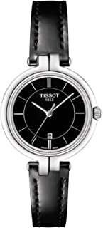 Tissot Women's Black Dial Leather Band Watch - T094.210.16.051