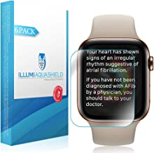 ILLUMI AquaShield Screen Protector Compatible with Apple Watch Series 5 (40mm)(6-Pack) No-Bubble High Definition Clear Flexible TPU Film