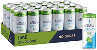 Mount Franklin Lightly Sparkling Water Lime, Multipack Mini Cans 24 x 250mL