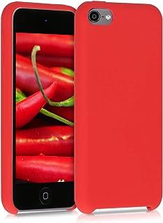 kwmobile Hülle kompatibel mit Apple iPod Touch 6G / 7G (6. und 7.Generation)   Silikon Schutzhülle gummiert   Cover Case in Rot