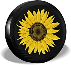 Fresquo Tire Covers Sunflower Spare Tire Cover Sun Protector Waterproof Wheel Cover Universal Fit for Jeep, Trailer, RV, SUV, Truck and Many Vehicle