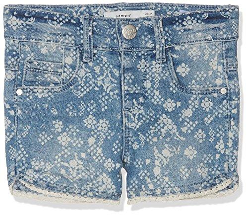 NAME IT NAME IT Mädchen NMFSALLI DNMASELLE 1057 Shorts, Blau (Light Blue Denim Light Blue Denim), 92