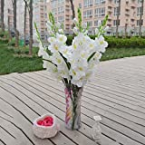 MonkeyJack Artificial Plants & Flowers Wedding Flower Gladioli Gladiolus stem 8 Colors - White, 80cm