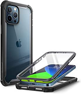 i-Blason Ares Case for iPhone 12 Pro Max 6.7 inch (2020 Release), Dual Layer Rugged Clear Bumper Case with Built-in Screen...