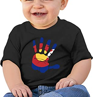 Handprint Flag of Colorado 6-24 Months Baby Boys & Girls Sportstyle T Shirt