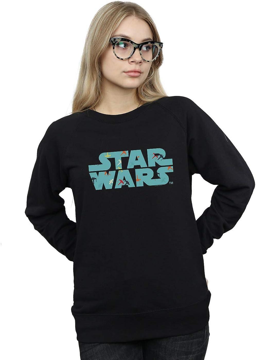 Star Wars Women's 35% OFF Retro Pattern Selling rankings X-Wing Logo Sweatshirt