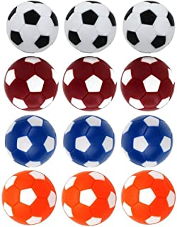 Qtimal Table Soccer Foosballs Replacement Balls, Mini Colorful 36mm Official Tabletop Game Ball - Set of 12