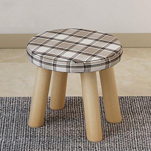 LJHA Tabouret pliable Repose-pieds en bois massif/tabouret chaussures changeantes créative/petit tabouret carré en tissu/tabouret canapé simple chaise patchwork (Couleur : E)