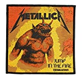 Parche de Metallica Jump In The Fire, tejido y con licencia oficial !