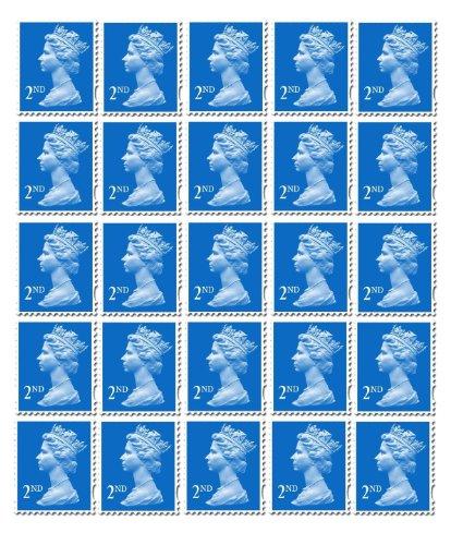25 x 2. klasy standardowe znaczki poczta królewska poczta pocztowa