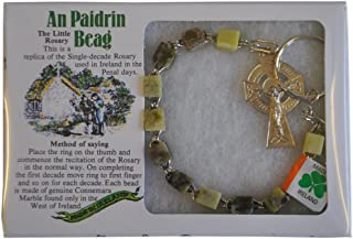 Irish Connemara Marble Single Decade Rosary Prayer Beads Handcrafted
