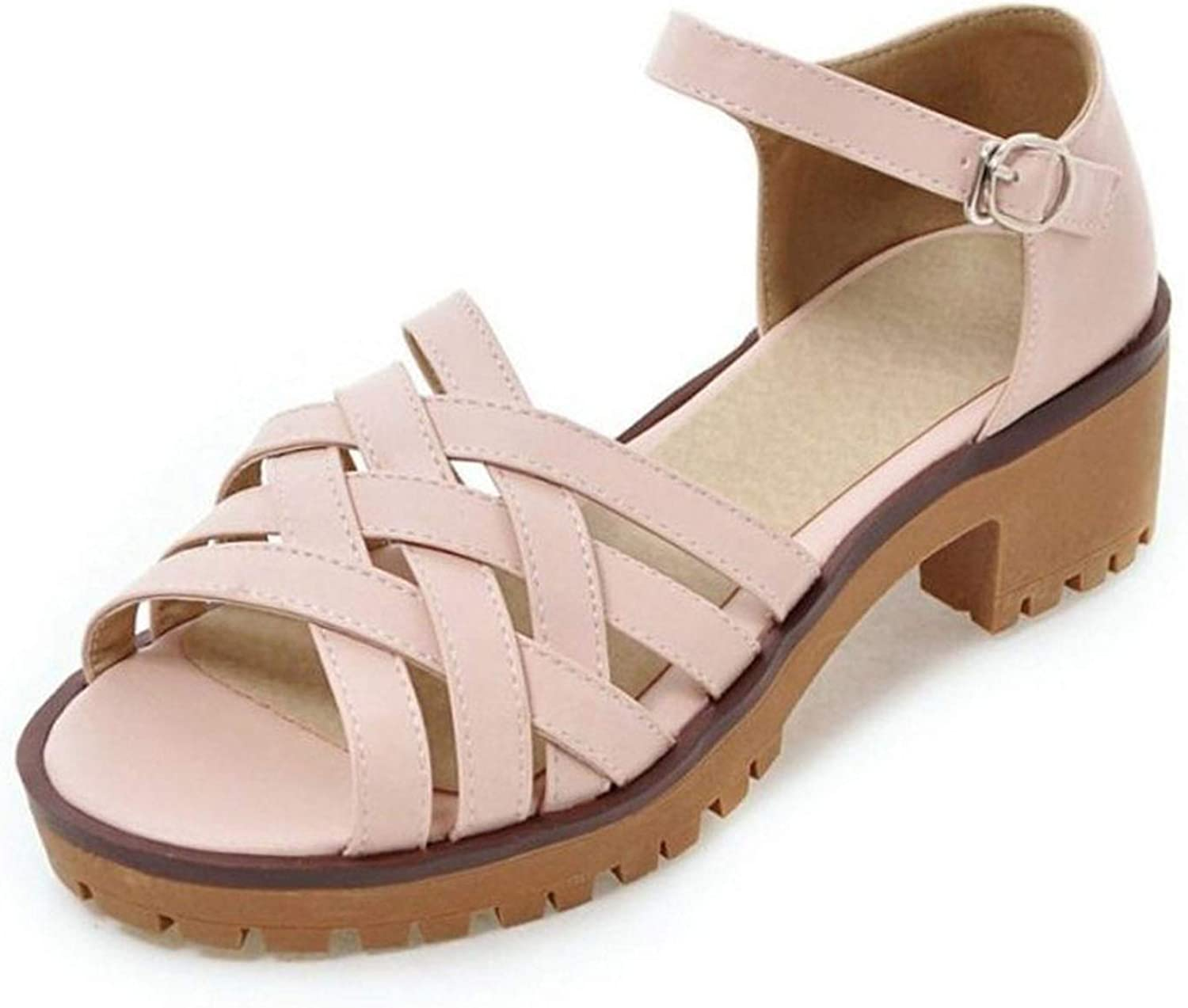 Summer Women Sandals Buckle Solid color Open Toe Sandals Leisure Outdoor Beach Women Simple shoes