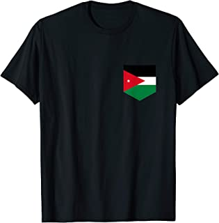 Jordan Flag with Printed Jordanian Flag Pocket T-Shirt