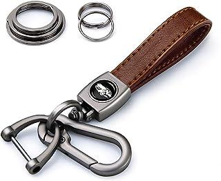 KVR سلسلة مفاتيح من الجلد الأصلي، سلسلة مفاتيح كيرينغ هدية للعائلة للرجال والنساء، اكسسوارات
