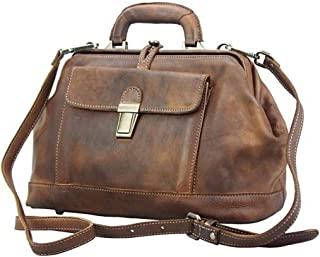 FLORENCE LEATHER MARKET Borsa a mano con tracolla in pelle 34.5x15.5x21 cm - Croisette - Made in Italy