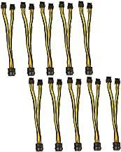 8pin adapterkabel Dual 8 Pin 6 + 2p Man GPU grafik grafikkort Miner strömförlängningskabel Cord Black Yellow Praktisk dato...