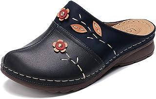gracosy Sandales Femme, Sabots Mules en Cuir PU Pantoufle Plage Tongs Eté Chaussures Jardinage Maison avec Semelle Confort...
