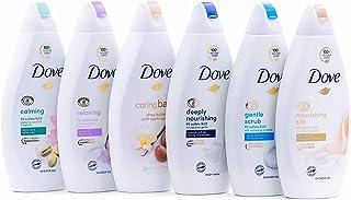 Dove Body Wash Variety 6 Pack - Shea Butter, Deep Moisture, Pistachio Cream, Coconut Milk, Gentle Exfoliating and Silk Glo...