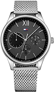 Tommy Hilfiger Men'S Black Dial Stainless Steel Watch - 1791415