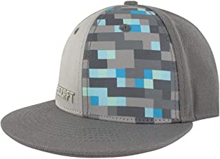 Vanilla Underground Minecraft Boys/Youth Baseball Snapback Caps (Creeper Diamond Steve Overworld)
