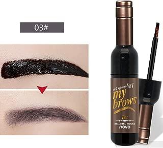 Yiitay Tearing Eyebrow Dye Eyebrow Gel Peel Off Natural Tint Paint Matte Red Wine